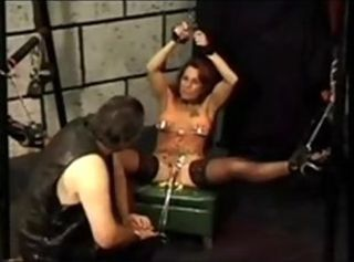 Sweet tortures of cunt and nipples never stop for her