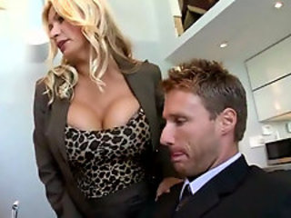 Amazing bigtits boss fucking in the office