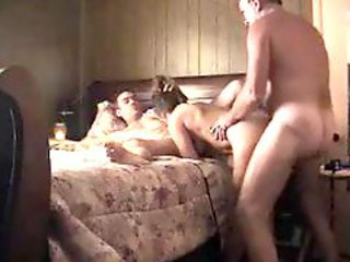 Amateur Threesome In Bedroom