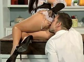 Ass Clothed Licking Maid