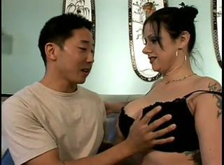 Hot Busty Milf With Asian Guy