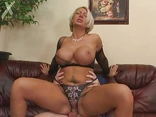 Amazing Babe Big Tits Blonde German Lingerie Mature MILF Riding