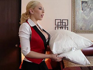 Amazing Babe Blonde Maid