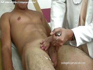 Hot Doctor Masturbates Cock To Boy