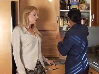 Blonde Brunette Kitchen MILF