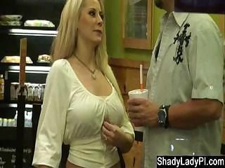Blonde Slut Caught Stepping Out