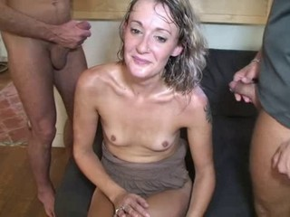 Cumshot French Groupsex Small Tits Tattoo Threesome