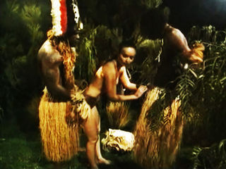 A savage tribe African practi...