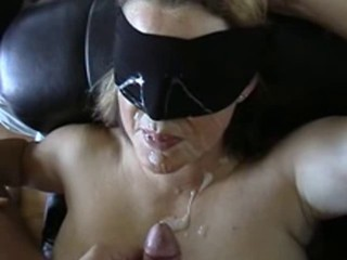 Super hot blindfolded wife gets...