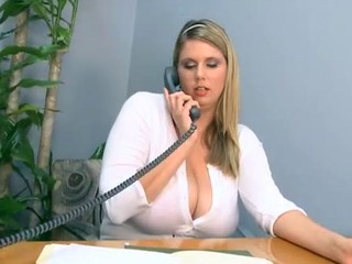 BBW Big Tits Blonde Office