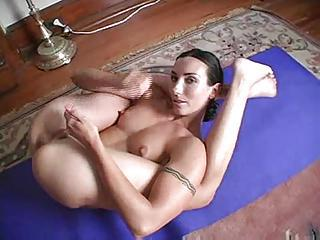 Hot Girl Doing Yoga Nude And Talking