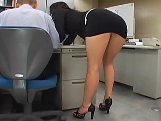 Asian Ass Brunette Japanese Office Secretary