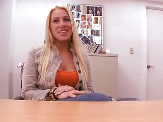 Blonde Casting European Mom Office