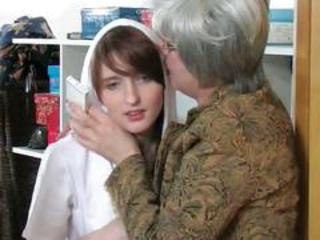 Mature lesbian and teen 01 from matureside