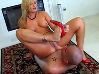 Blonde sits on his face with her big ass