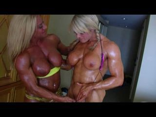 Bodybuilders Lisa and Wanda Lesbian Love Part 2