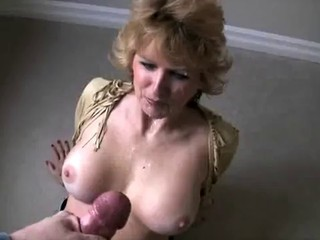 Massive facial cumshot
