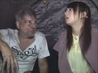 Asian Brunette Japanese Old and Young Pigtail Teen