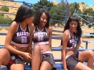 Sexy Teen Ebony Cheerleaders