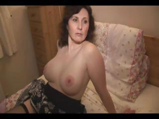 Mature Amateur Brunette Strips I...