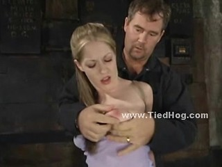 Blonde With Perky Tits Bound Tig...