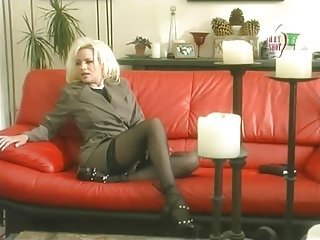Blonde Legs MILF Pornstar Stockings