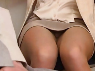 Office Pantyhose Milf Teases and Fucks