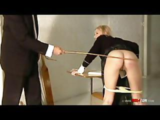 Naughty Schoolgirl Is Caned And...