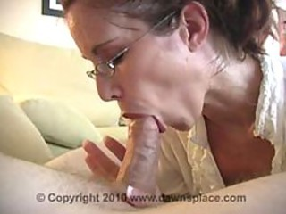 Amateur Blowjob Glasses MILF