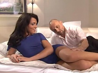Hot shemale model loves hard cock
