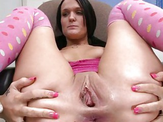 Ass Brunette Clit Gaping Pussy Shaved