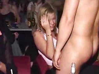 Hot party girls blow the male strippers so well