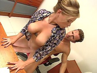 Amazing Big Tits Blonde Hardcore Office Riding Secretary