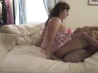 He licks and fucks his fun BBW