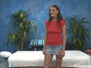 Erin in tiny skirt exposes her small tits