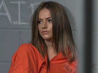 Brunette Prison Uniform