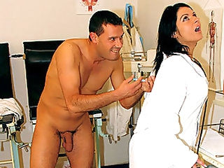 Sexy Brunette Nurse Gets Drugged and Fucked By Her Horny Patient