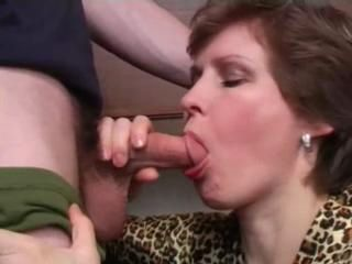 Son forced mom suck and fuck