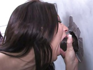 Karina OReilley eating-up the cock from the hole