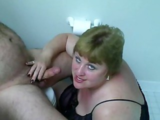 Big fat wife giving a hot BJ