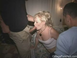 Drunk Slut Takes Two Cocks