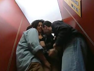 Italian porn movie with elevator sex