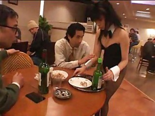 Waitress becomes a gangbang slut and takes creampies
