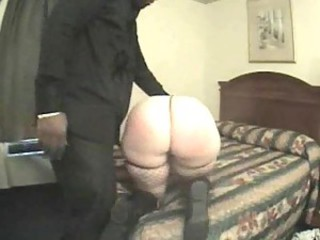 He spanks her fat ass and fucks her