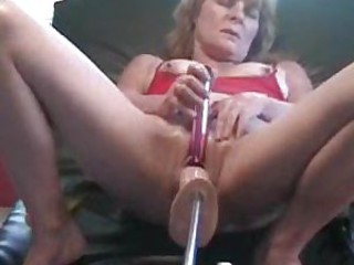 Dildo pushing in and out of her cunt