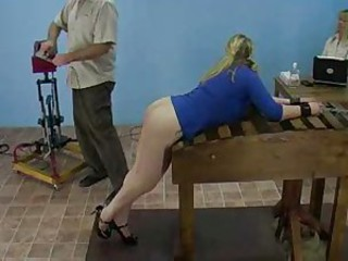 Amy Vs. The Spanking Machine bdsm bondage slave femdom domination