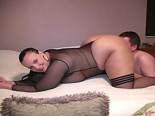 BBW Facesitting Fishnet Stockings
