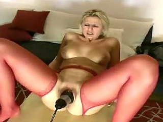 Pussy loosened with toy and fist