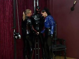 Everyone is head to toe in latex