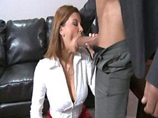 Blowjob MILF Office Pornstar